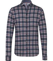 desoto heren overhemd multicolour stripes squares cutaway jersey