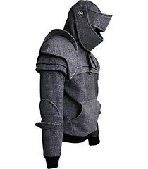 solid color men's retro drawstring knight sweater