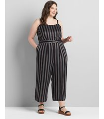 lane bryant women's belted cami crop jumpsuit 20 neon dots