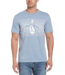 original penguin men's pete engineered stripe logo graphic t-shirt