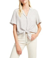 women's french connection laiche tie front button-up shirt