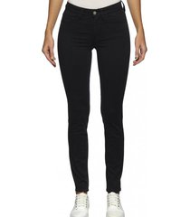 jeans midrise skinny negro calvin klein