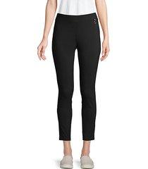 high-waist pull-on pants