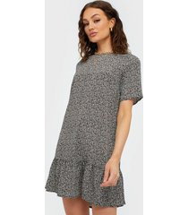 ax paris short sleeve flounce bottom dress loose fit dresses