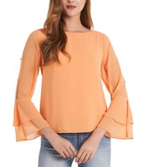 vince camuto tiered chiffon top