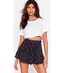 womens let the sky fall star tiered shorts - black