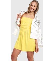 vestido amarillo active