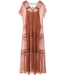 see by chloé tiered dress