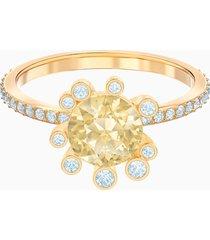 anello olive, multicolore, placcato oro
