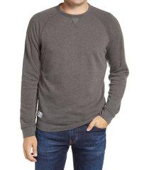 men's johnnie-o pamlico crewneck sweatshirt, size small - black