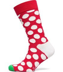 big dot snowman sock underwear socks regular socks röd happy socks