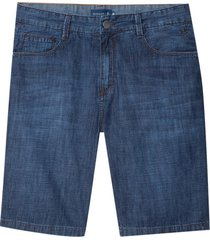 bermuda dudalina jeans washed blue cross masculina (jeans escuro, 50)