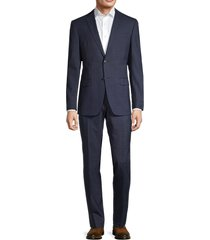 john varvatos star u.s.a. men's standard-fit wool-blend suit - blue - size 40 l