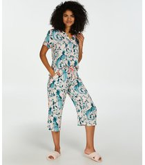 hunkemöller capri pyjamasunderdel i vävt tyg rosa