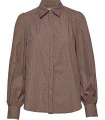 ellen ls shirt overhemd met lange mouwen bruin second female