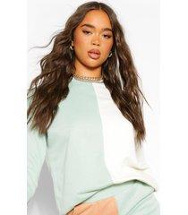 colour block sweatshirt, khaki