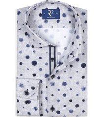 grijs overhemd met blauwe stippen r2 amsterdam
