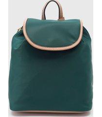 mochila mini flap backpack verde tommy hilfiger