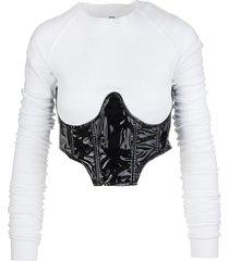 top with vinyl corset