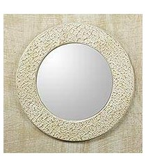 wall mirror, 'cape coast cream' (ghana)