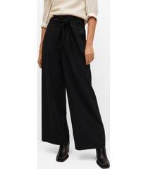 mango women's belt palazzo pants