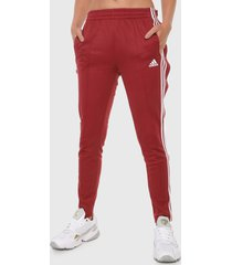 pantalón rojo-blanco adidas performance must haves,