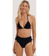 na-kd swimwear bikinitrosa i maximodell med hög midja - black