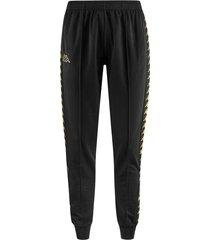 pantalon kappa astoria - negro/dorado