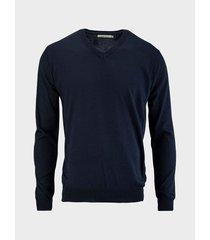 suéter cuello v unicolor para hombre 08918