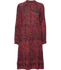 mila dress knälång klänning röd nué notes