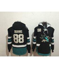 men's san jose sharks 88 brent burns hockey pullover hoodie jersey