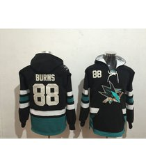 men's san jose sharks 88 brent burns hockey pullover hoodie jersey