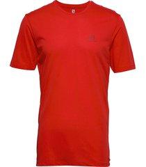 agile training tee m t-shirts short-sleeved röd salomon