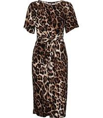 dress jurk knielengte bruin ilse jacobsen