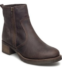 louise wool shoes boots ankle boots ankle boots flat heel brun pavement