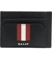 bally tarrik leather card holder - black