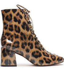new kika patent leather bootie - 10 leopard patent leather