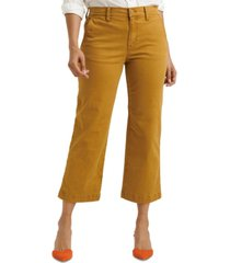 lucky brand mid-rise wide-leg pants