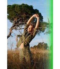cotton shirt sequins - green - xxl