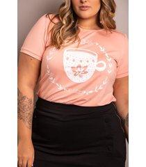 t-shirt chá de juízo plus size domenica solazzo