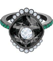 anillo con motivo black baroque, multicolor, baño de rutenio 5511389