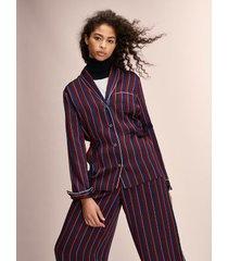 tommy hilfiger women's hilfiger collection pajama top cabernet stripe - 2