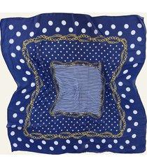 pañuelo azul nuevas historias cadenas y lunares ba536-35