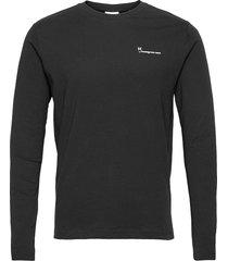 locust transfer ls tee - gots/vegan t-shirts long-sleeved svart knowledge cotton apparel