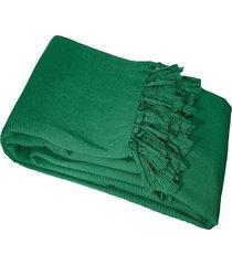koc pled narzuta bawełniana green 180x220 cm
