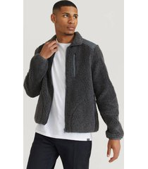 tröja contrast pile jacket