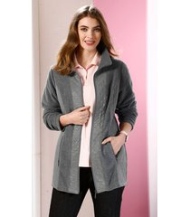 fleece vest m. collection antraciet