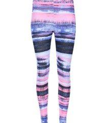 legging deportivo estampado tonos lila y rosa color azul, talla s