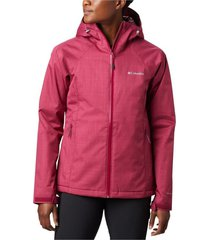 casaca top pine insulated rain jacket burdeo columbia