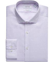 calvin klein lilac geometric slim fit dress shirt